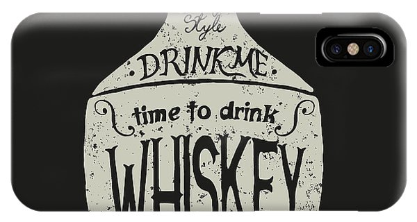 Liquor iPhone Case - Vintage  Bottle Of Whiskey With by Dimonika