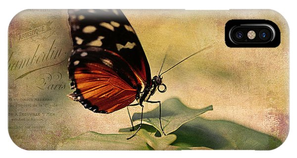Vintage Butterfly Card IPhone Case