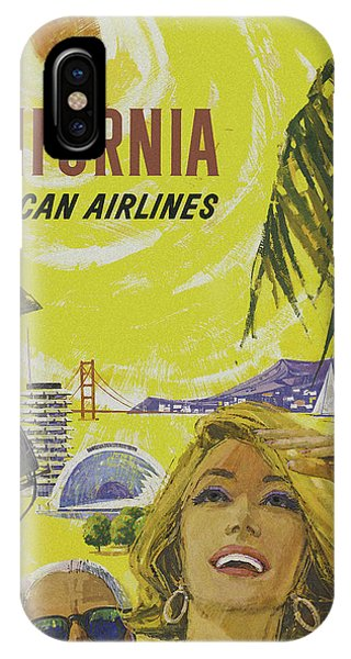IPhone Case featuring the digital art Vintage California Travel Poster by Joy McKenzie