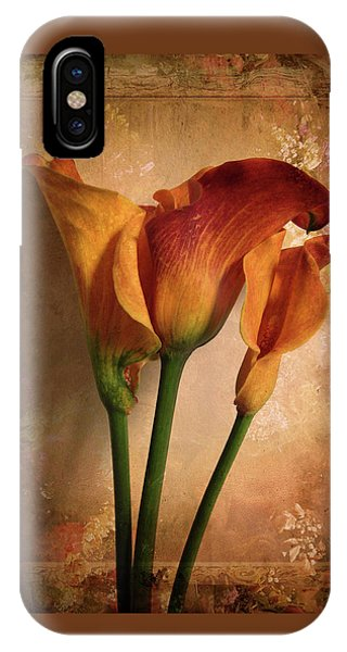 Vintage Calla Lily IPhone Case