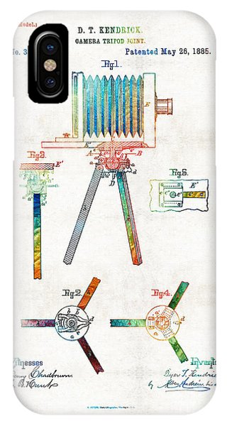 Vintage Camera Art - Tripod Joint - By Sharon Cummings IPhone Case