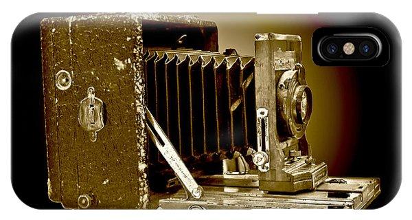 Vintage Camera Sepia Wall Art IPhone Case