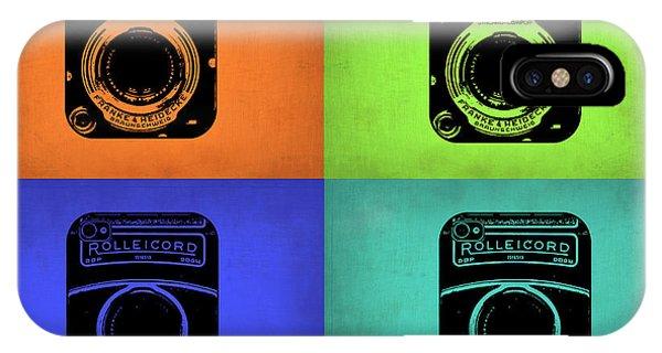 Cameras iPhone Case - Vintage Camera Pop Art 1 by Naxart Studio
