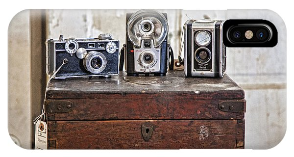 Vintage Cameras At Warehouse 54 IPhone Case