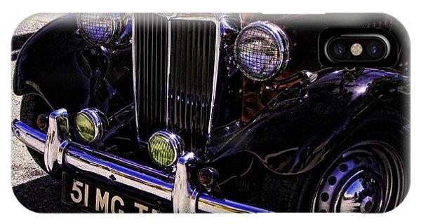 Vintage Car Art 51 Mg Td Copper IPhone Case