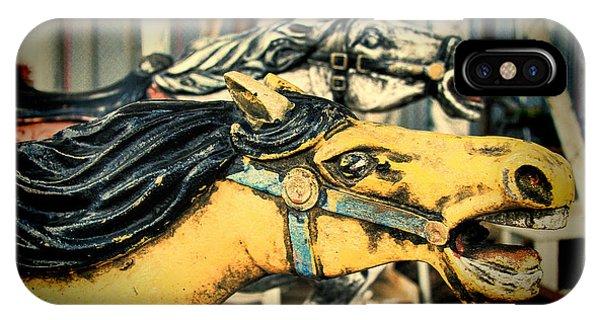 Vintage Carousel Horses 009 IPhone Case