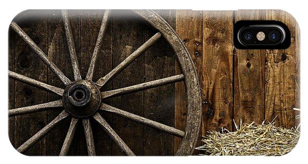 Vintage Carriage Wheel IPhone Case