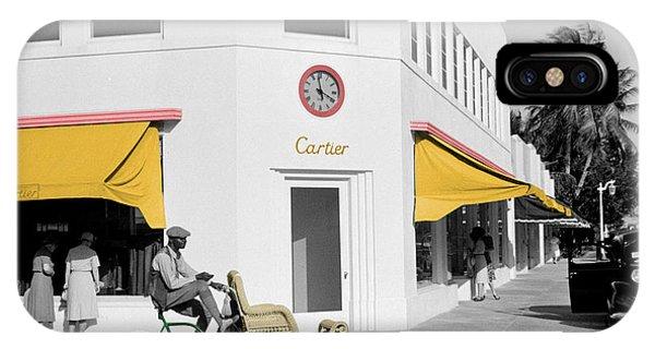 Vintage Cartier Store IPhone Case