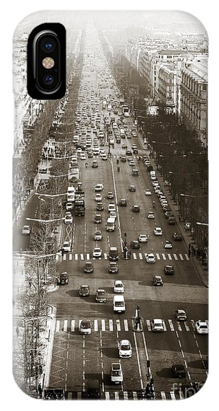 Vintage Champs Elysees Phone Case by John Rizzuto