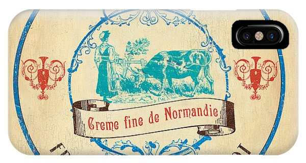 Farm iPhone Case - Vintage Cheese Label 3 by Debbie DeWitt