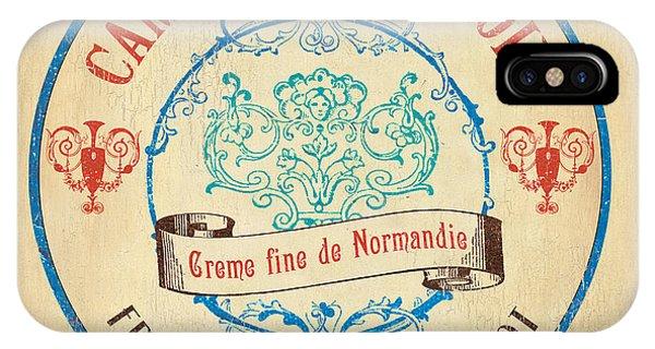 Kitchen iPhone Case - Vintage Cheese Label 4 by Debbie DeWitt