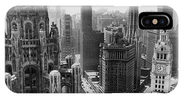 Chicago iPhone Case - Vintage Chicago Skyline by Bob Horsch