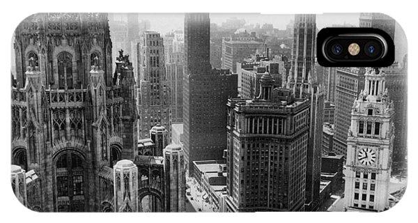 Vintage Chicago Skyline IPhone Case