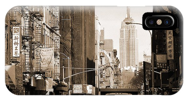 Vintage Chinatown And Empire State IPhone Case