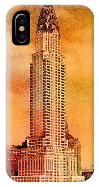 Chrysler Building iPhone Case - Vintage Chrysler Building by Andrew Fare