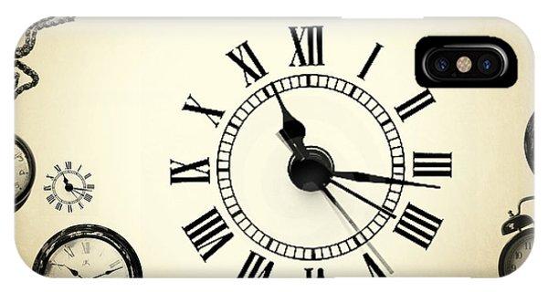 Clock iPhone Case - Vintage Clocks by Mark Ashkenazi