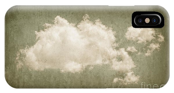 Mottled iPhone Case - Vintage Clouds Background by Jorgo Photography - Wall Art Gallery