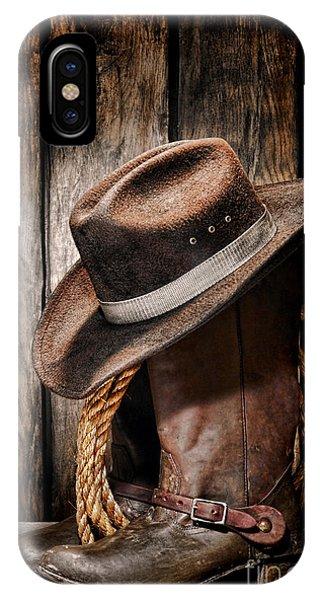 Vintage Cowboy Boots IPhone Case