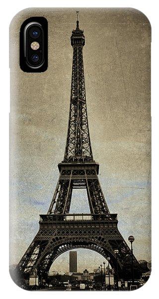 Vintage Eiffel Bronze IPhone Case