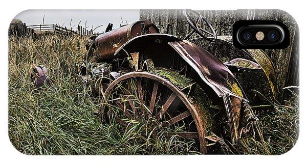 Vintage Farm Tractor Color IPhone Case