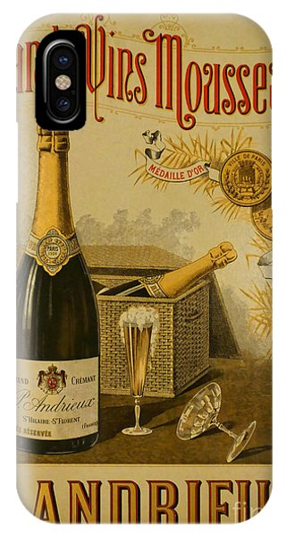 Vintage French Poster Andrieux Wine IPhone Case
