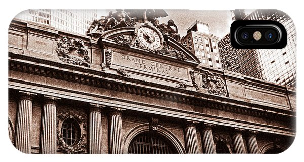 Vintage Grand Central Terminal Phone Case by John Rizzuto