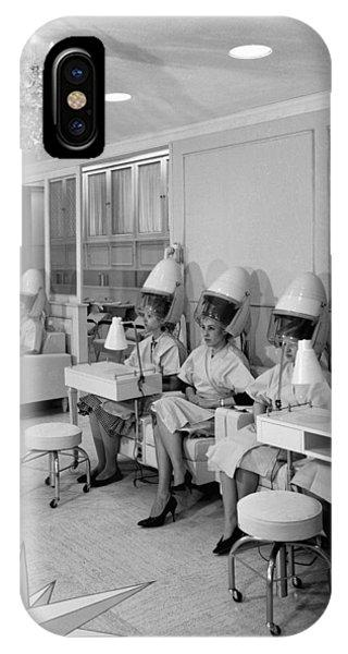 Vintage Hair Salon 2 IPhone Case