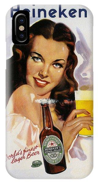 Vintage Heineken Beer Ad IPhone Case