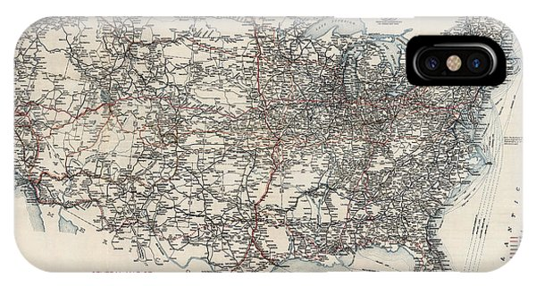 Highway iPhone Case - Vintage Highway Map Of The United States By The American Automobile Association - 1918 by Blue Monocle