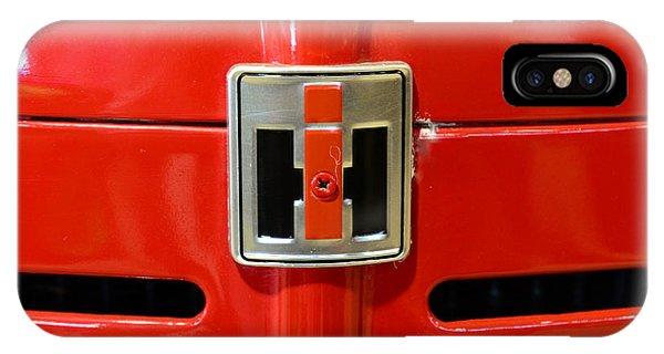 Vintage International Harvester Tractor Badge IPhone Case