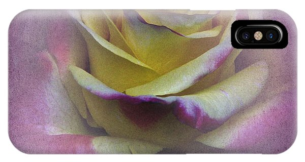 Vintage January Rose IPhone Case