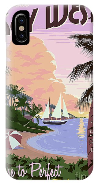 Travel iPhone Case - Vintage Key West Travel Poster by Jon Neidert