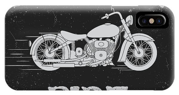 T Shirts iPhone Case - Vintage Label With Motorcycle .vintage by Dimonika