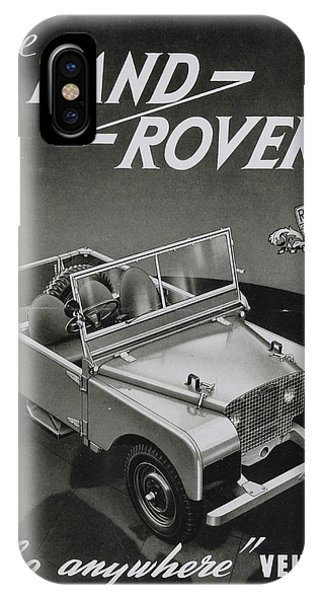 Vintage Land Rover Advert IPhone Case