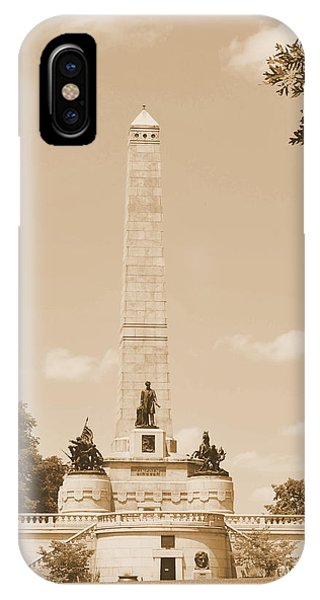 Vintage Lincoln's Tomb IPhone Case