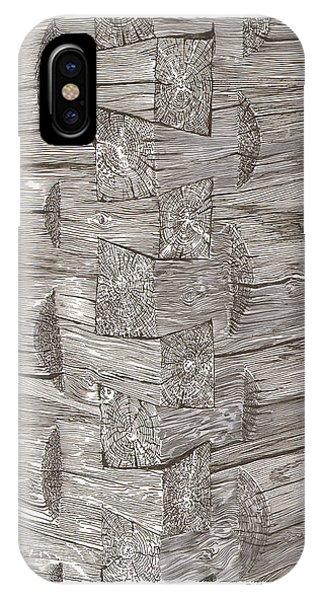 Vintage Log Cabin Corner Detail IPhone Case
