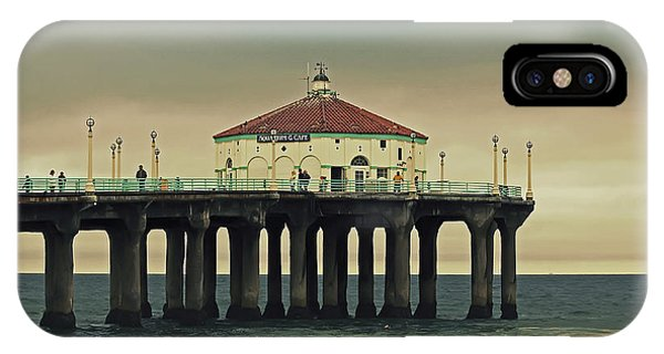 Vintage Manhattan Beach Pier IPhone Case