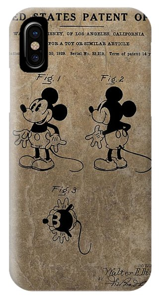 Vintage Mickey Mouse Patent IPhone Case