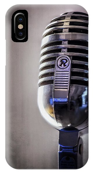 Musical iPhone Case - Vintage Microphone 2 by Scott Norris