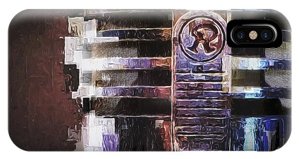 Musical iPhone Case - Vintage Microphone Painted by Scott Norris
