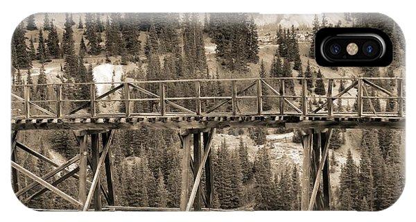 Trestle iPhone Case - Vintage Mining Trestle by Dan Sproul