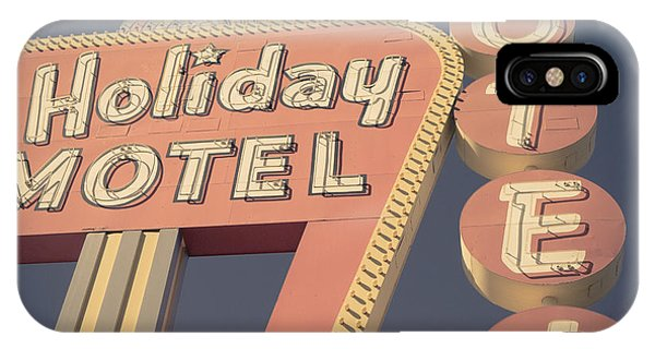 Atomic iPhone Case - Vintage Motel Sign Holiday Motel Square by Edward Fielding