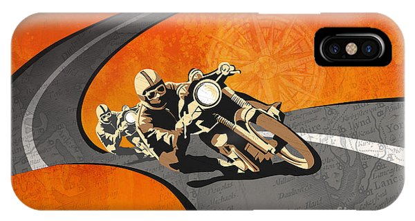 Motorcycle iPhone Case - Vintage Motor Racing  by Sassan Filsoof