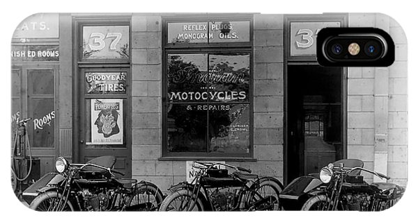 Asia iPhone Case - Vintage Motorcycle Dealership by Jon Neidert