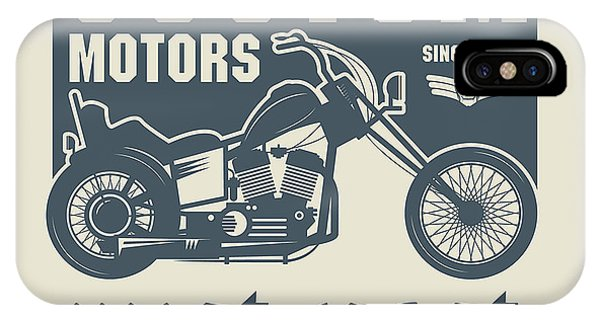 Vintage Motorcycle Label Or Poster Phone Case by Astudio