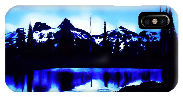 Vintage Mount Rainier With Longmire Springs In The Foreground Early 1900 Era... IPhone Case