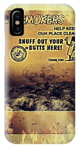 Vintage Mr. Butt Snuffer Ashtray IPhone Case