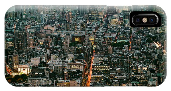 Vintage New York Skyline IPhone Case