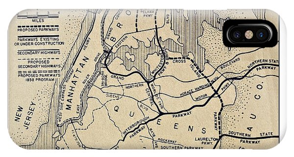 Vintage Newspaper Map IPhone Case
