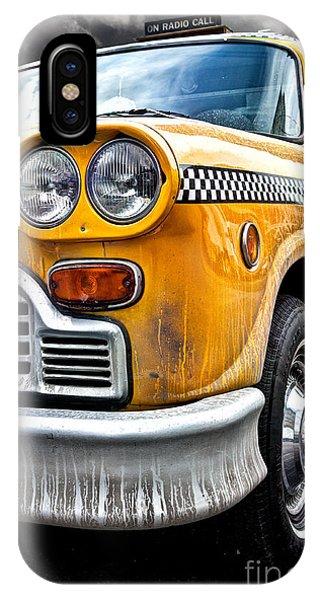 Vintage iPhone Case - Vintage Nyc Taxi by John Farnan